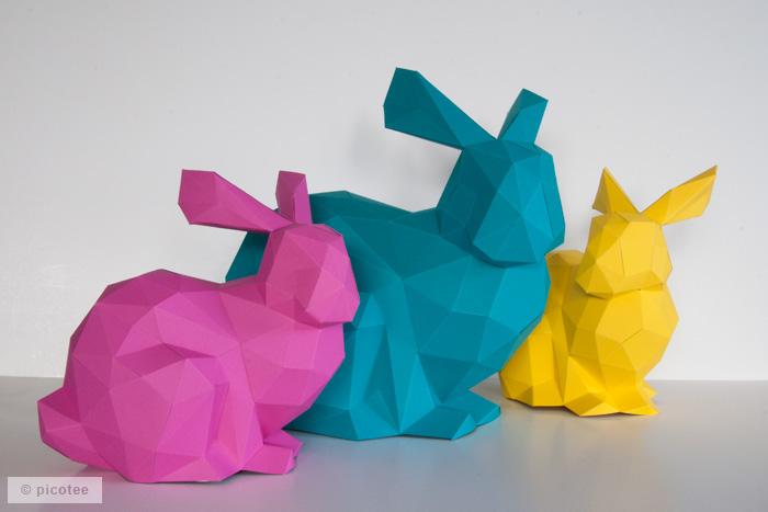 Papierhäschen x3