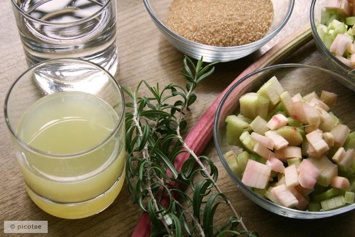 picotee / Rhabarber-Limonade Zutaten