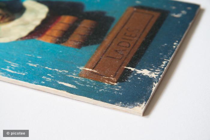picotee / holzbild detail